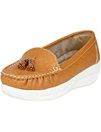 FASHIMO Women's Casual Type Ballet Loafers