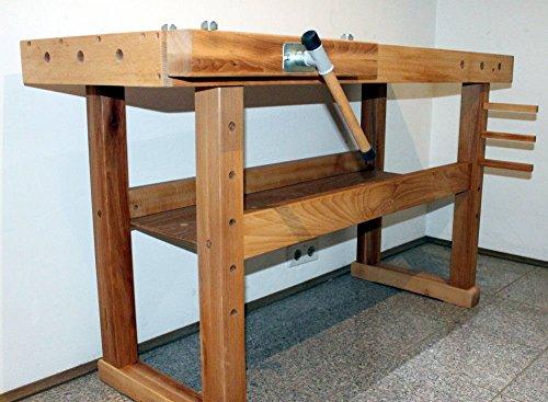 Hobelbank BUCHE Werkbank Holzwerkbank Werktisch Arbeitstisch mit Spannzange - 2