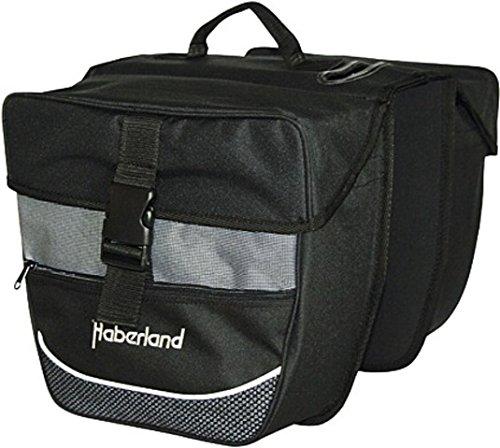 Haberland Fahrradtasche Doppeltasche Einsteiger-Serie, Schwarz-Silber, 32 x 34 x 16 cm, 12.5 Liter, 130002 15
