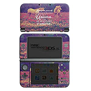 DeinDesign Skin kompatibel mit Nintendo New 3DS XL Aufkleber Sticker Folie Einhorn Unicorn Phrases