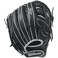 "Wilson Onyx 11,75""Fastpitch Softball Glove - WTA12RF171175, Lanzador diestro, Negro/Blanco"