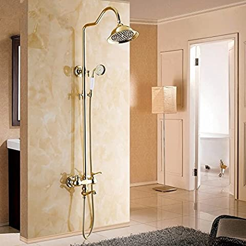 XB.TMinimalista, moderno y completamente equipada cocina, lavando los platos, Ducha duchas Kit Golden Jade Cu levantar ducha suite grifos antiguos, grifos, mezclador de Cuenca
