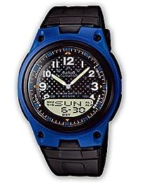 CASIO Collection AW-80-2BVES - Reloj de caballero de cuarzo, correa de resina color negro (con cronómetro, alarma, luz)
