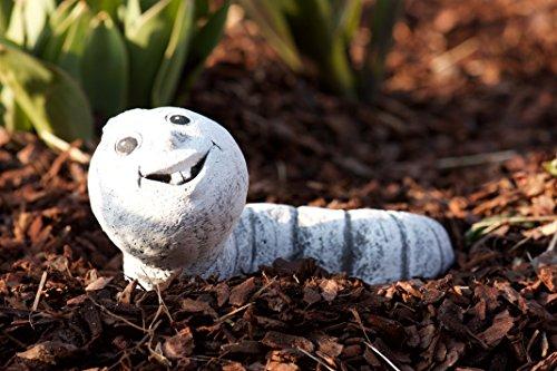 """Steinfigur """"Wurm Egon"""", frost- und wetterfest bis -30°C, massiver Steinguss"""