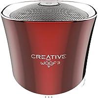 Creative Labs Woof 3–Enceintes portables (Bluetooth, 3.5mm, USB, MicroSD, lecteur MP3, FLAC intégré)