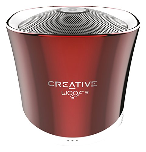 Creative Labs Woof 3 - Altavoces portátiles (Bluetooth, 3.5 mm, USB, microSD, reproductor MP3, FLAC integrado)