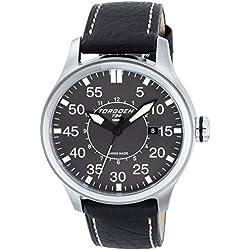 TORGOEN Swiss Herren-Armbanduhr Analog Quarz Leder T34102