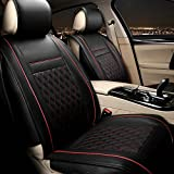 QJONKE Seat Cover Leather Five seats Universal Winter All Surrounded by , red , standard edition