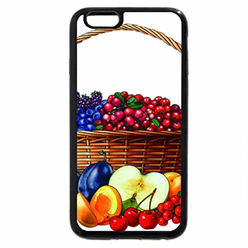 iPhone 6S / iPhone 6 Case (Black) Basket with fruits