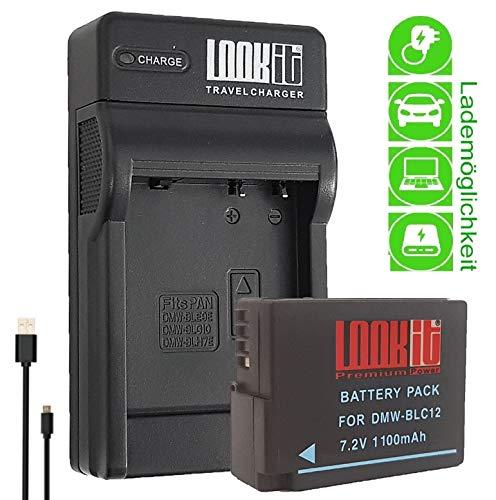DMW-BLC12, DMW-BLC12E DMC-G81M für Panasonic DMC-G81H Adapter Batteriegriff