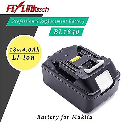 Flylinktech 18V 4000mAh Ersatz-Akku für Werkzeug Makita Typ BL1840 BL1830 BL1850 Werkzeug Akku Li-ion Akku