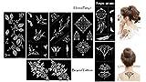 Tattoo Schablone Vorlage 7 Stück Set Henna Party 7 zur einmaligen Verwendung für Körper und mehr