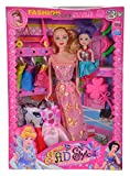 Vogue Fashion Designer Princess Stylish Barbie Dress Up Doll Play Set w/ Dress, Accessories, Shoes & Scooter - Children Toy for Unisex Baby & Girl Kid