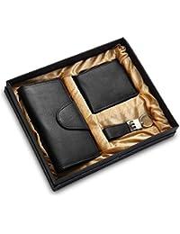 Holboro Special Couple Combo Of Women's Wallet, Men's Wallet & Key Chain - Black