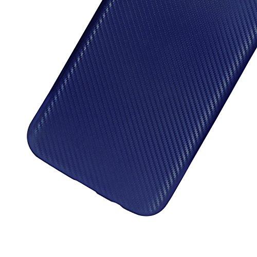 Für iPhone 7 Plus Handyhülle, Vandot [Carbon Fiber] Soft TPU Slim Fit Ultimate Drop und Impact Protection Back Cover Case Scratch-resistenten Hybrid Rugged robust Dual Layer Cover Case für iPhone 7 Pl Carbon Fiber Blau