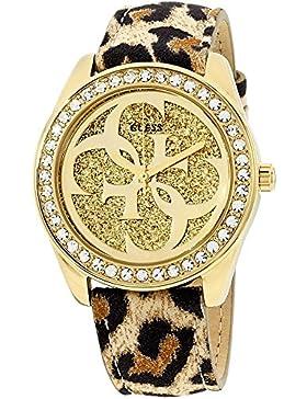 Guess Damen-Armbanduhr Analog Quarz Leder W0627L7