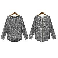 Long Sleeve Zipper Back Sweater