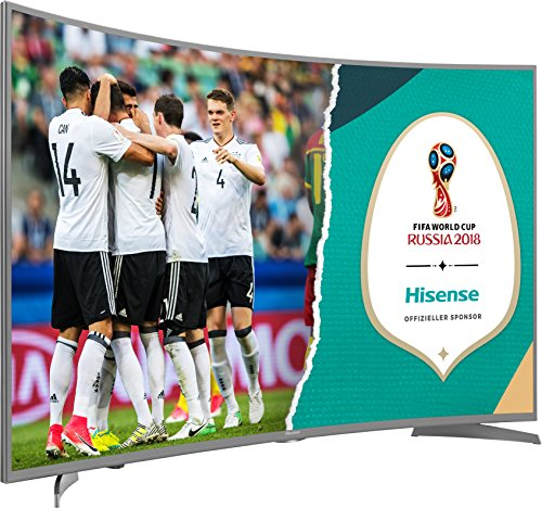 Hisense H49NEC6500 123 cm (49 Zoll) Curved Fernseher (Ultra HD, HDR10, Triple Tuner, Smart TV) (Scharfe 50in Led-tv)