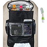 Universal Autositz Rückseiten Organisator, FineGood-große Kapazitäts Mehrfachtaschen Spielraum Aufbewahrungsbehälter für Reisen Imbiss Getränk Gewebe CD Zeitschriften Abfall (Hitze-Bewahrung)