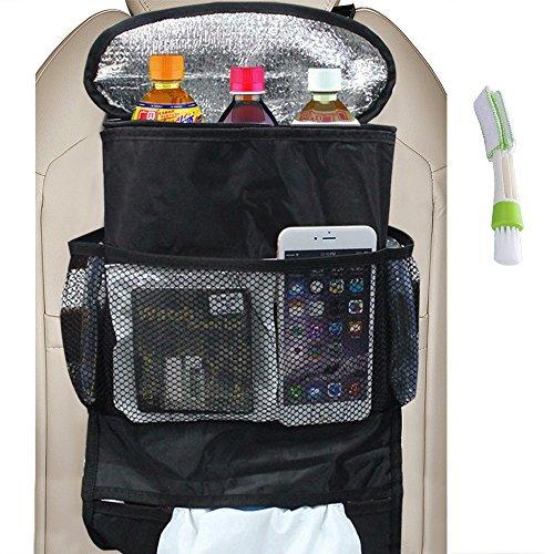 Organizzatore di sedili universali dell'automobile, grande immagazzinaggio da viaggio di grandi dimensioni per viaggi di viaggio per viaggi snack bevande tessuto cd trash (heat-preservation)