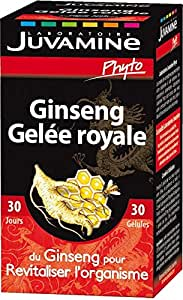 JUVAMINE - JUV064068 - Stimulant Energisant Ginseng Gelée Royale Revitalisant - Pilulier de 30 Gél