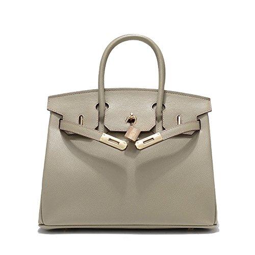 Mefly Borsa in pelle Lady Platinum Fashion borsetta Nuovo modello Super Multisistema grigio elefante Elephant grey