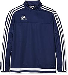 Adidas Y Children's Tracksuit T Tiro15, Children's, Sweatshirt, Sweatshirt Tiro15 Training T Y, Dark Bluewhite