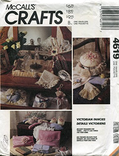McCall's Crafts Pattern 4619 Victorian Fancies Room Decor and Travel Accessories by McCall's -