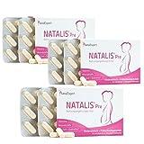 SanaExpert Natalis Pre Vorteilspack: 3 x Nahrungsergänzung mit 800 µg Folsäure, Vitamin D, Eisen, Vitamine bei Kinderwunsch und Frühschwangerschaft, 30 Kapseln