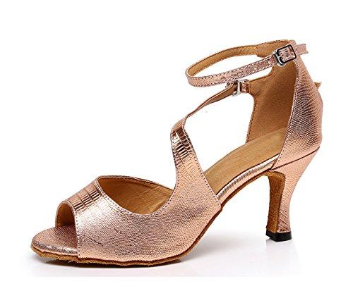 MINITOO ,  Damen Tanzschuhe, Gold - Rose/Gold-7.5cm Heel - Größe: 39