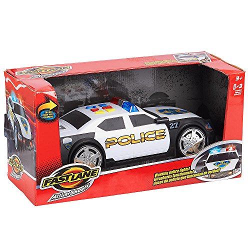 Fast Lane Police Car Action Wheels with Lights and Sound Motorized by Toys R Us