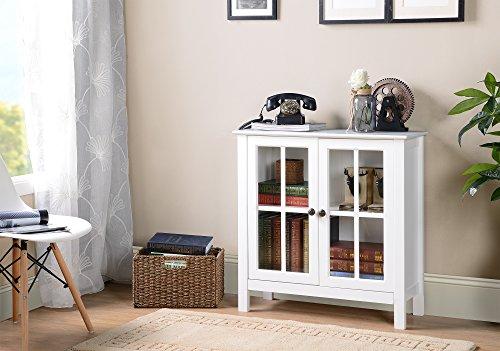 American Möbel Classics OS Home und Office Glas Tür Accent und Vitrine, weiß (Vitrine Tür Glas)