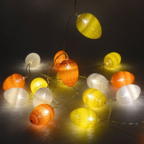 /30Baumwolle Ei LED Ostern Xmas Hochzeit Lichterkette, batteriebetrieben (Kid Halloween-handwerk-ideen)
