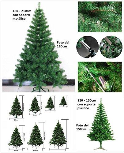 Foto de Árbol de Navidad artificial árboles C/Soporte plástico 120-210cm (Verde, 150cm 293Tips)