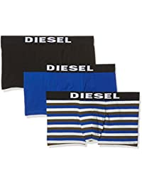 Diesel Men's 3-Pack Shawn Yarn Dye Cotton Stretch Trunk
