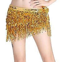 LaoZanA Mujer Pañuelo para la cintura Dance de danza del vientre con Borla