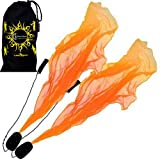 Flames N Games Pro ANGEL WINGS Poi Set (oranje) spiraal Poi. Swinging Poi en spinning Pois! Pois voor beginners en profession