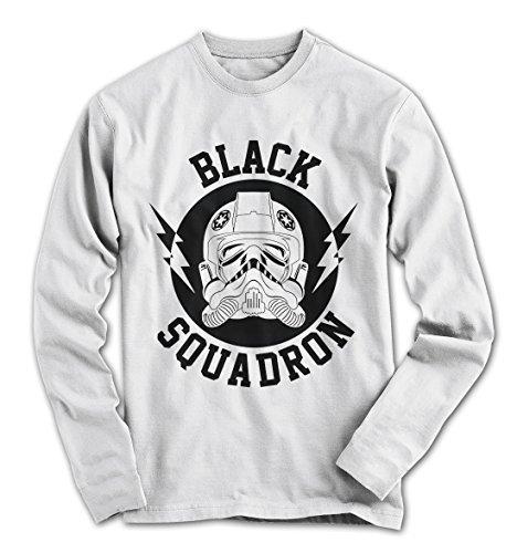 Herren Longsleeve Black Squadron Star Tie Fighter Movie Wars Weiß