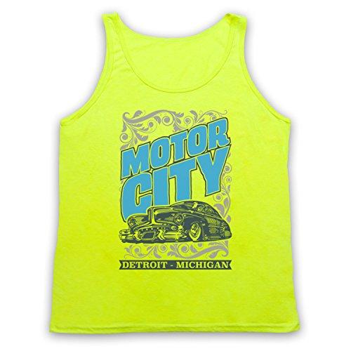 Motor City Detroit Michigan Tank-Top Weste Neon Gelb