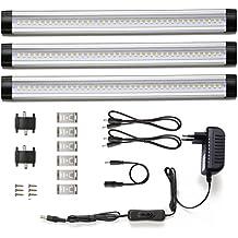 LE Barras LED 900lm 12W=24W Fluorescente Blanco cálido Pack de 3