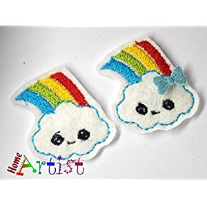 Regenbogen Haarspange für Kleinkinder - freie Farbwahl