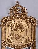 Zwei Wandspiegel Barock Spiegel Gold Frauenbüsten Rechts & Links - 2