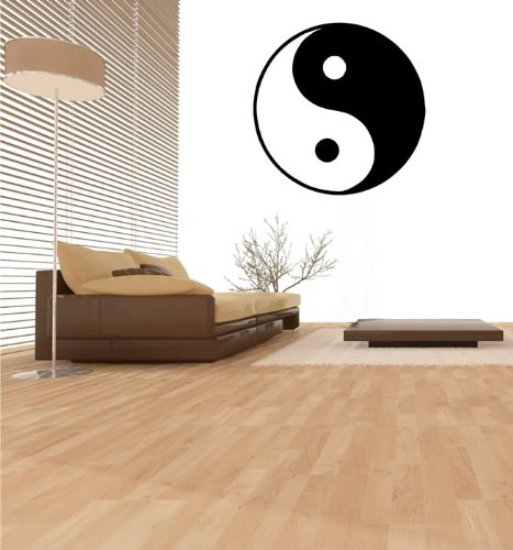 Wandtattoo Yin Yang Nr.82 Wandaufkleber Wandmotiv (Größe: 58 x 58cm)