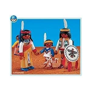 playmobil famille indienne western indien lot de 3 figurines pas de boite pour cette r f rence. Black Bedroom Furniture Sets. Home Design Ideas