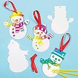 Decorazioni Scratch Art a forma di Pupazzo di Neve per Bambini, da Creare e Appendere (confezione da 10)