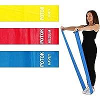 Set di elastici di carica, fitness, yoga, pilates, tonificazione, Sollevamento Pesi, Set di 3 con 3 livelli di difficoltà diversi
