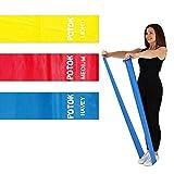Set di elastici di carica, fitness, yoga, pilates, tonificazione, Sollevamento Pesi, Set di 3con 3livelli di difficoltà diversi