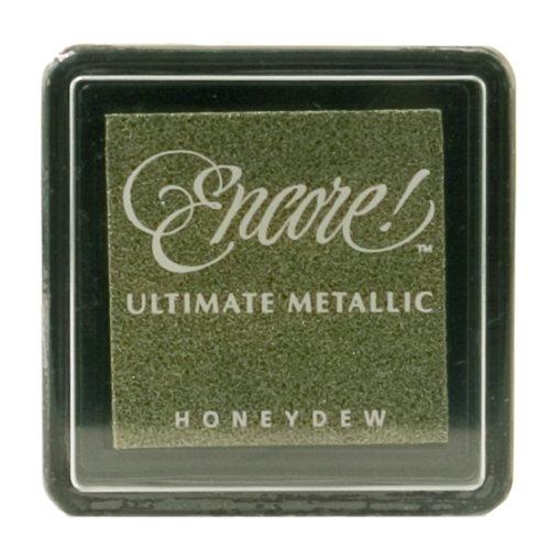 Ultimate Metallic Kleine Stempelkissen Tsukineko Tinte Pad, Metallic Honig Tau -