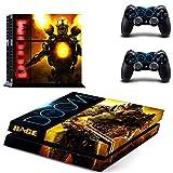Playstation 4 + 2 Controller Aufkleber Schutzfolie Set - DOOM /PS4