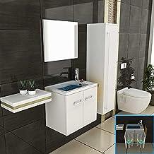 suchergebnis auf f r badm bel g ste wc waschtisch waschplatz spiegel set wei. Black Bedroom Furniture Sets. Home Design Ideas